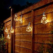 solarbetriebene Party-Lichterkette - 3,90m - 10