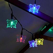 solarbetriebene Schmetterling Lichterkette, 10m,