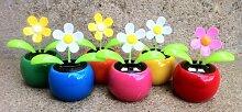 Solarblume, Wackelblume 4er-Set verschiedene Blumen