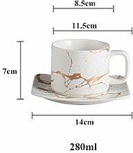 Solardream Keramik Teetasse und Untertasse,