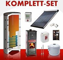 Solarkomplettset 10 m² + Komplettset Kaminofen Termonicoletta Forno ...