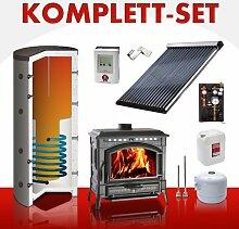 Solarkomplettset 8 m² + Komplettset Kaminofen Termoisotta