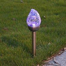 Solarkristall Beleuchtet Im Freien, Gebrochenes