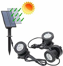 Solarleuchte Außenleuchte mit 2 RGB