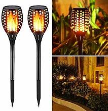 Solarleuchte Garten Fackeln, Solar Taschenlampe
