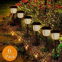 Solarleuchte Garten, GolWof 6 Stücke LED Solar