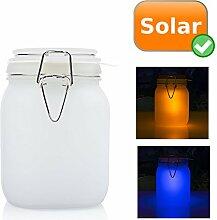 Solarleuchte mit 2 verschiedenen Farben blau und