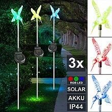 Solarleuchte Solar Dekospieß Kolibri Farbwechsel