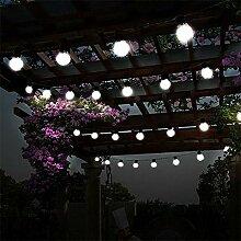 Solarleuchten Birne String Licht,DINOWIN