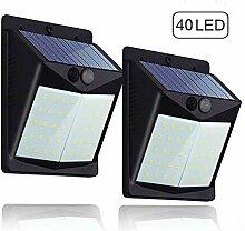 Solarleuchten für Außen,(2 Stück) Hovast 40 LED