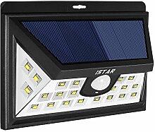 Solarleuchten, Istar 24LED Sicherheit Licht Outdoor Solar Beleuchtung Solar Powered Lights Solar-Leuchten Sicherheit Licht PIR Bewegungsmelder Wandleuchte für Garten, W/Weitwinkel Sensor 160°