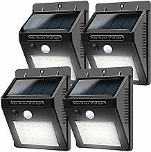 Solarleuchten mit Bewegungsmelder, 20 LEDs,