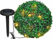 Solarlichterkette in Buchsbaumkugel Solarleuchte