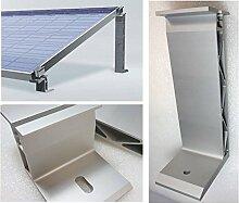 Solarmodul Aufständerung. 10°. Dreieck. Alu Massiv. Flachdach. Photovoltaik.