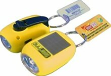 solarrific W4010Solar/Handkurbel LED Taschenlampe Schlüsselanhänger