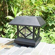 Solarsäulenkopfzauntürzaun-Wandlampe, heller