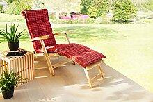 Solax-Sunshine Deckchair Auflage Bordeaux