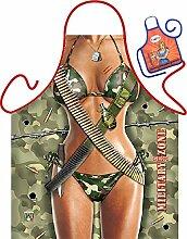 Soldatin Bikini Millitär Motiv Kochschürze sexy