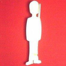 Soldier Wandspiegel, plastik, 45 x 13 cm