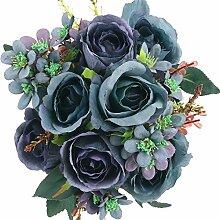 SOLEDI Kunstblumen Rosen Blumenstrauß