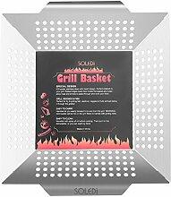SOLEDI Premium Grillkorb Gemüseschale Gemüsekorb aus rostfreiem Edelstahl 35 x 31 x 5,5cm