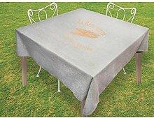 Soleil d'ocre Tischdecke quadratisch Baumwolle