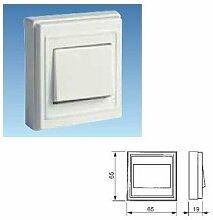Solera 1602–Unipolare Switch 6A 250V ~. Maße 65x 65x 19. Halogenfrei Thermoplast Material.