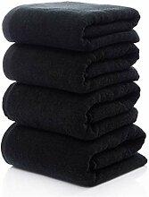 Solid Black Baumwolle Gesicht Handtücher Handtuch