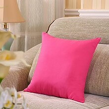Solid Color Pillow Sofa Cushion,Office Back Cushion,Bedside Backrest Car Waist Pillow-B 45x45cm(18x18inch)VersionB
