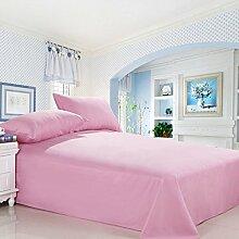 """solid-farbige blätter person doppel-bett-blatt fashion plain pink-A 91x91""""(230x230cm)"""