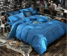 Solid sets of bedding, bed sheets cotton bedding sets