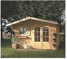 Solid Superia Gartenhaus Chamonix Holz 388x 328x 242cm s8982