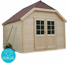 Solid Superia Gartenhaus Limerick Autoclave Holz 388x 298x 295cm S8505–1