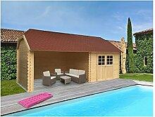 Solid Superia Gartenhaus York Holz 298x 298x 309cm s8509