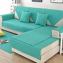 Solide Farbe Einfach Anti-Schlupf Sofa Cover