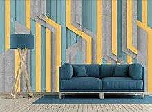 Solide Geometrie Gelb, Blau, Graue