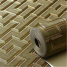 Solide Wallpaper für Home Luxury Wand CoveringNon-Gewebe Material Kleber erforderlich WallpaperRoom Wallcovering, Grün