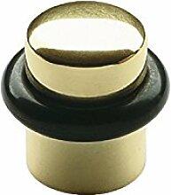 SOLIDO Boden-Türpuffer ø 25 mm | Türstopper | Messing poliert | 1 Stück