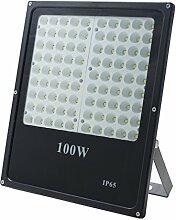 Solight A+, LED-Außenleuchte, 100W, 8500lm, Lichttemperatur 6000K, AC 230V, schwarz, Aluminium, 100 watts, Black, 28.3 x 3.5 x 33.4 cm