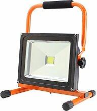 Solight A+, LED-Außenleuchte mit Ständer, 30W, 2400lm, Lichttemperatur 6000K, Kabel mit Stecker, AC 230V, Aluminium, 30 watts, Black/Orange, 22.3 x 27.4 x 29 cm