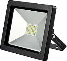 Solight A+, LED-Außenleuchte Slim, 20W, 1400lm, Lichttemperatur 3000K, schwarz, Aluminium, 20 watts, Black, 11.5 x 3.5 x 13.5 cm