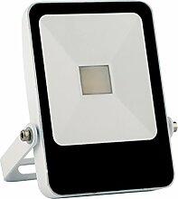 Solight A+, LED-Außenleuchte Style, 10W, 700lm, Lichttemperatur 4000K, weiß, Aluminium, 10 watts, Black/White, 8.5 x 2 x 13 cm