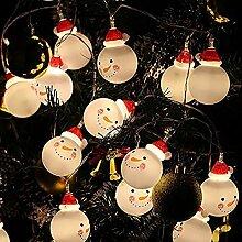 Solike 3M Lichterkette Schneemann Leuchtet String