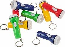 Solini Mini-Taschenlampe Schlüsselanhänger Set 8-teilig