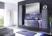 Solitaire 7005 3 tlg. Badmöbel Set / Waschtisch / Unterschrank / Spiegelschrank