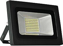 Solla® 30W LED Flutlicht Fluter 230V Außenleuchte, 2400Lumen, Kaltweiß, 6000 K, IP65 Wasserfest, LED Scheinwerfer Außenleuchten