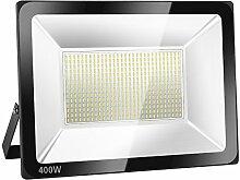 SOLLA 400W LED Flutlicht Fluter 230V Außenleuchte, 32000 Lumen, Kaltweiß, 6000 K, IP66 Wasserfest, LED Scheinwerfer Außenleuchten