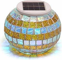 solmore Solarleuchte LED Nachtlicht Mosaik Glas