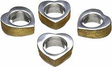 Solo Artisan 4Lifestyle Herz Serviette Ring Gold