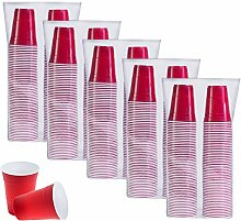 SOLO Cup Company P16-500 Partybecher, 454 ml, Ro